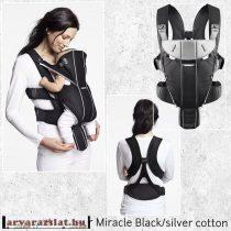 Baby Björn Miracle  kenguru fekete-ezüst új