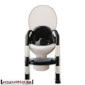 Thermobaby Kiddy loo lépcsős wc szűkítő  fekete-fehér h