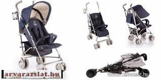 Babycab David karfás sport esernyőbabakocsi s.kék italtartóval,esővédővel h