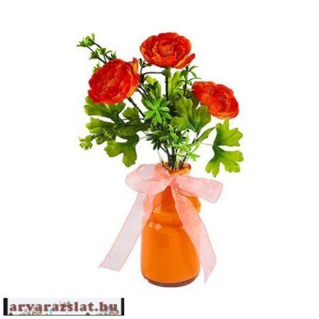 Művirág vázával dekoráció új