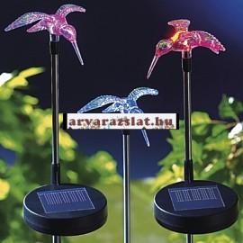 Színvátós solár kolibri napelemes dekoráció új