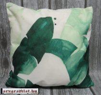 Párnuhazat design pálmás új  zöld leveles 42*42 cm