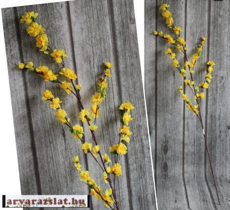 Sárga művirág ág dekoráció 110cm