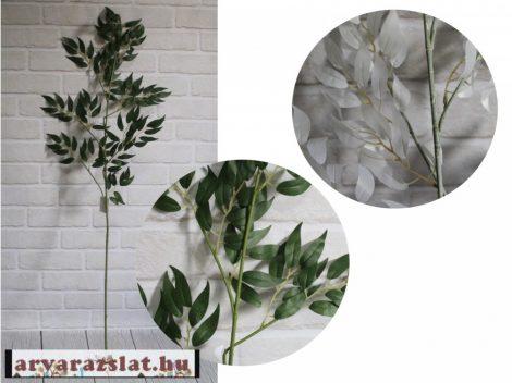 Oliva ág  művirág  dekoráció 120 cm fehér