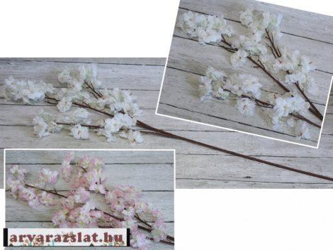 almafa ág  művirág ág dekoráció 105 cm  rózsaszín