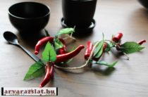 Művirág, műnövény paprika 8 db 50 cm szálon új