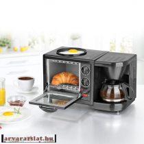 gourmetmaxx reggeliző szett kávé-tea főző, mini sütő.