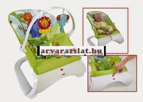 Fisher Price rezgő pihenőszék,babahinta,babafotel játszóívvel új