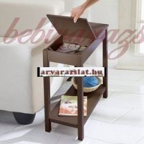 Felhajtható tetejű kis asztal bútor új barna