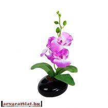 ORCHIDEA kicsi lila művirág dekoráció élethű selyem