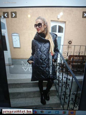 Trendi steppelt kabát fekete új FEKETE SZÍNBEN