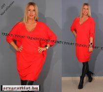 Nagyon lezser női piros tunika ruha új